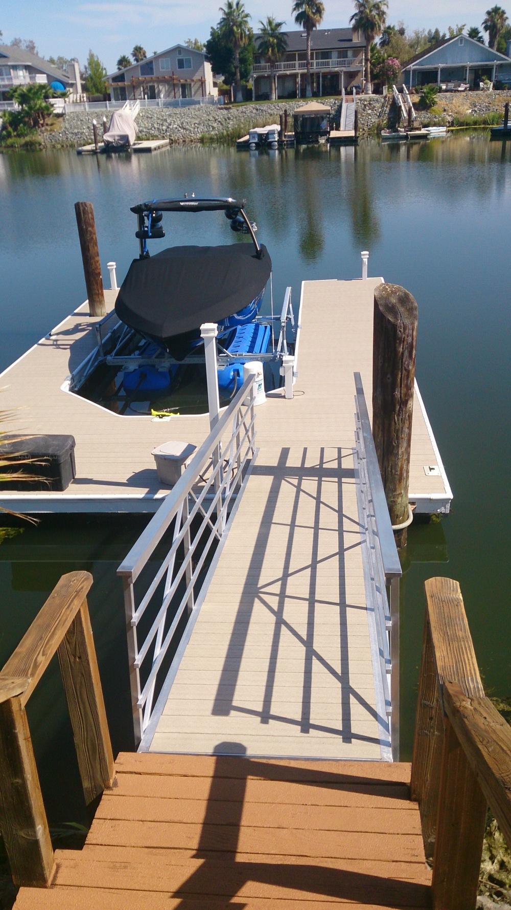 Krentler Private Boat Dock And Gangway Winn Decking